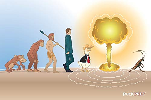 - Evolution of Mankind Postcards (10 post cards, Donald Trump) Monkey, Atomic Bomb, Cockroach