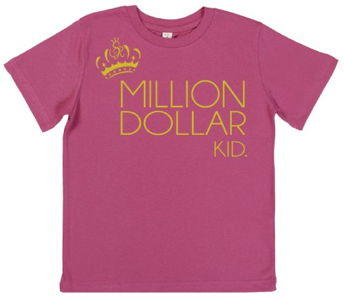 Spoilt Rotten - Million Dollar Kid Girl's Toddler T-Shirt 3-4 yrs Pink