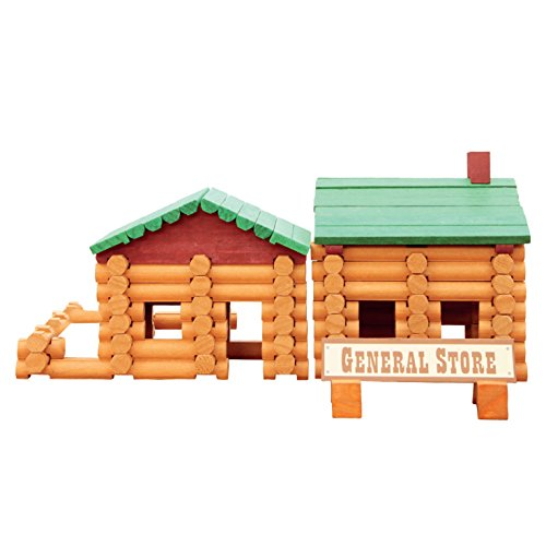 Smart Builder Cabin Log Set, Includes 100 Pieces of Interlocking Wood Logs ()