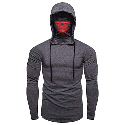 Sumen Men Teen Boys Mask Skull Pullover Gym