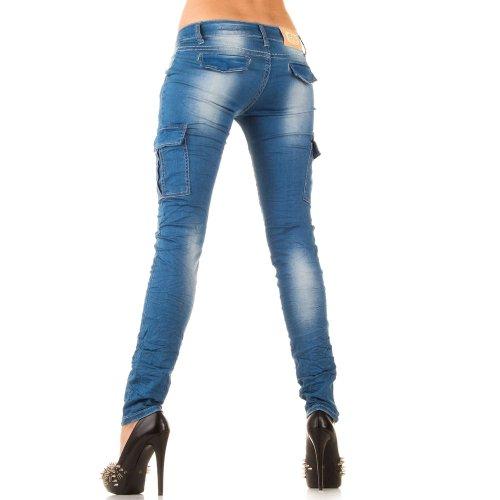 Top-Fashion-Online - Vaqueros - para mujer KL-J-7720-blue