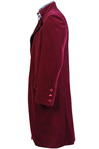 NoveltyBoy Willy Wonka Charlie and the Chocolate Factory Red Johnny Depp Purple Coat Jacket Nest Hat Set Costume by NoveltyBoy (Image #2)
