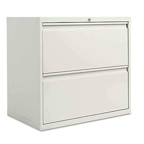 Alera 30 Inch Storage Cabinet - Alera LF3029LG Two-Drawer Lateral File Cabinet, 30w X 19-1/4d X 28-3/8h, Light Gray