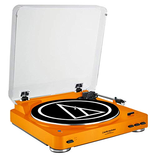 Audio-Technica AT-LP60-BT Fully Automatic Bluetooth Stereo Turntable System (Orange)