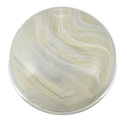 Souarts Cream Round Resin 5.5mm Snap Button Jewelry Charm 18mm ()