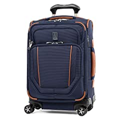 Go anywhere with a spinner that is all your own. The crew versapack global carry-on expandable spinner is designed for total packing versatility and customizable with a variety of interchangeable Travelpro exclusive zip-in organizers. Include...