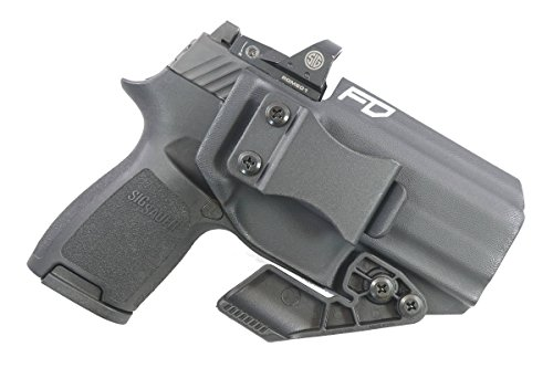 Fierce Defender IWB Kydex Holster Sig P320c RX w/Optic Cut The Paladin Series -Made in USA- (Black)