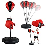 Liberty Imports Sport Boxing Set Punching Bag With Gloves | Punching Ball for Kids Adjustable Height - 43