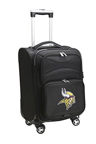 Denco NFL Minnesota Vikings Domestic Carry-On Spinner, 20-Inch, Black