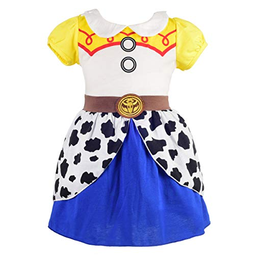 Dressy Daisy Girls Princess Cowgirl Jessie Dress Up Costume for Toddler Girls Size 2T -