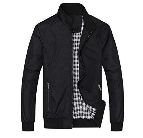 Autumn MogogoMen Fitted Jackets Black Zip Loose Baseball Full Business Casual T7Hrtwqv7