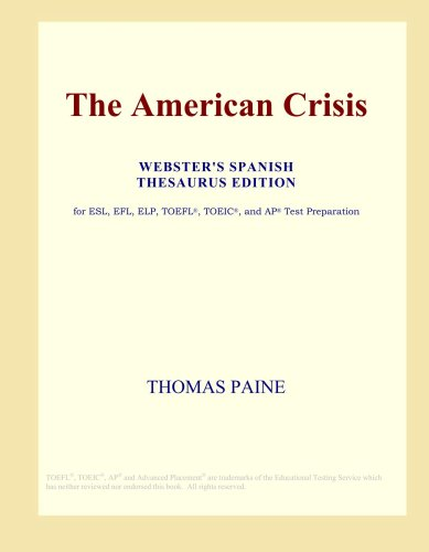 The American Crisis (Webster's Spanish Thesaurus Edition) ebook