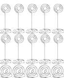 Autirx 20 Pieces Table Number Holders Wedding Place Card Holder Including 10 Pieces Photo Holder Stand and 10 Pieces Ring Table Holder (Silver)