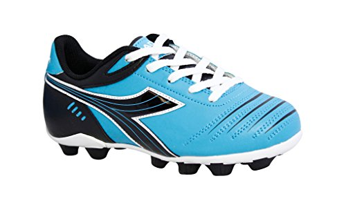 Diadora Kid's Cattura MD Jr Soccer Cleats (3 M US Big Kid, Columbia Blue/Black)