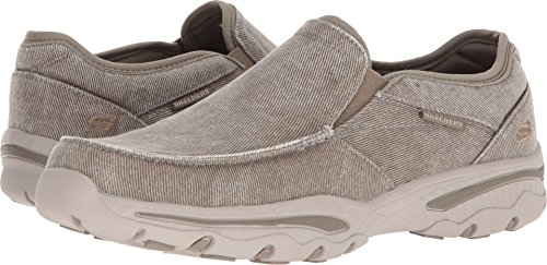 Skechers Men's Relaxed Fit-Creston-Moseco Moccasin, Taupe, 10 M - Memory Inch 0.375