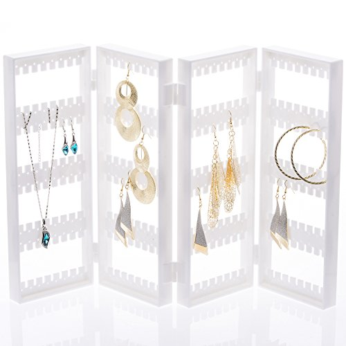 Choice fun Foldable 4-Panel Jewelry Hanger Earrings necklace holder Display Stands Choice Fun ()