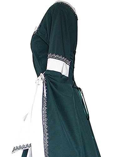 Misassy Womens Medieval Dress Renaissance Costumes Irish Over Long Dress Cosplay Retro Gown by Misassy (Image #2)