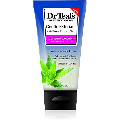 Dr Teal's Epsom Salt Gentle Exfoliant Softening Foot Scrub, 6 oz (Pack of 2)