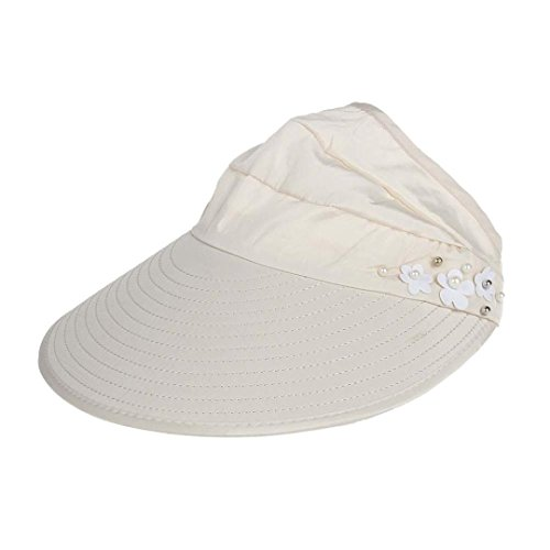 2018 Summer Womens Solid Hip-Hop Baseball Cap Low Profile Outdoor Beach Sunscreen Cap UV Protection Caps Sun Visor Hat (Beige)