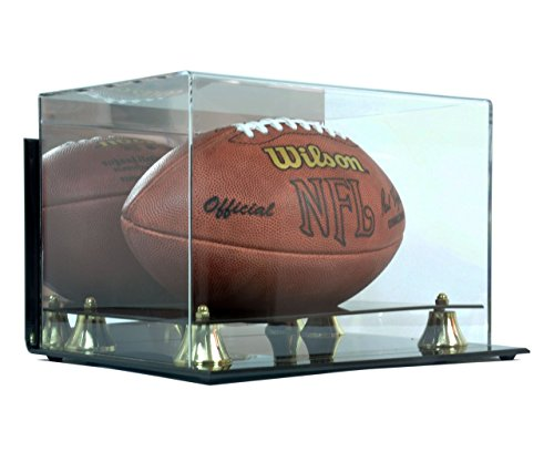 Deluxe Acrylic Football Display Case - Wall Mountable (Wall Showcase Display Case)