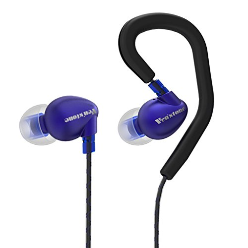 Venstone X1 Running Headphones Sweatproof Resistant Earbuds Button Control with Microphone and Secure Earhooks