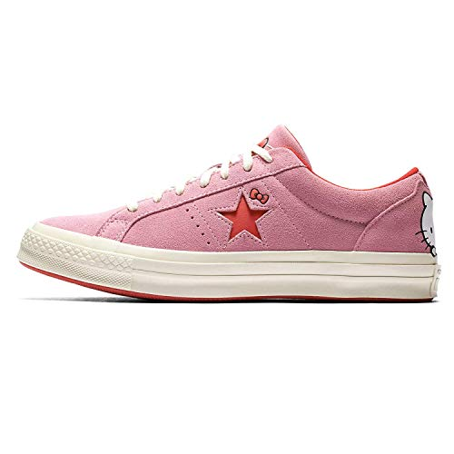 Converse Chuck Taylor All Star Lo Hello Kitty Fashion Sneakers (6 M US Women / 4 M US Men, Prism Pink One Star)