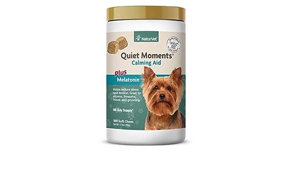 NaturVet Quiet Moments Soft Chews Safe Use Reduce Stress Travel ...