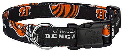 Country Brook Design Deluxe Bengals Designer Dog Collar - Medium