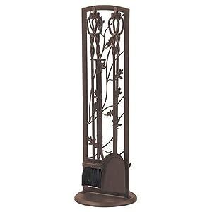 Amazon.com : Panacea Fireplace Tool Set 5 Piece, Oak Leaf 30 ...