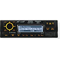 Jensen JHD1630B Heavy Duty AM, FM, WB, iPod, and iPhone, Vehicle Rugged Stereo System, 45 Watts x 4 Speaker Output, Black