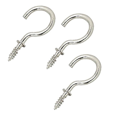 Bulk Hardware BH05154 Shouldered Mug Cup Hook Chrome Plated 15mm, Set of 100 Piece Bulk Hardware Limited