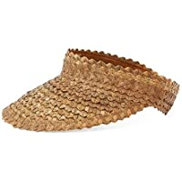 Island Straw Sun Visor-Brown