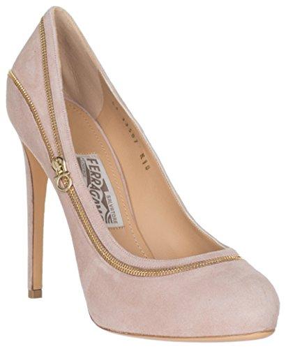 Salvatore-Ferragamo-Womens-Beige-Suede-Zipper-Seaming-Rory-Pumps-Heels-Shoes