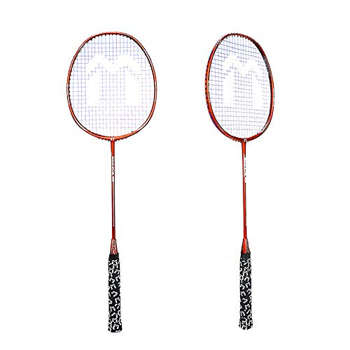 THIBETA Trained Premium Quality Set of Badminton Rackets, Pair of 2 Rackets, Lightweight & Sturdy, for Professional & Beginner Players.