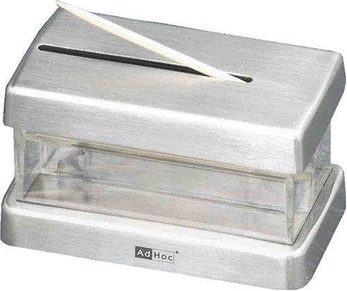 AdHoc stuzzicadenti Dispenser Pick Me in Acciaio Inox//plastica