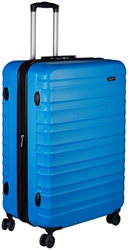 AmazonBasics Hardside Spinner Travel Luggage Suitcase - 28 Inch, Blue
