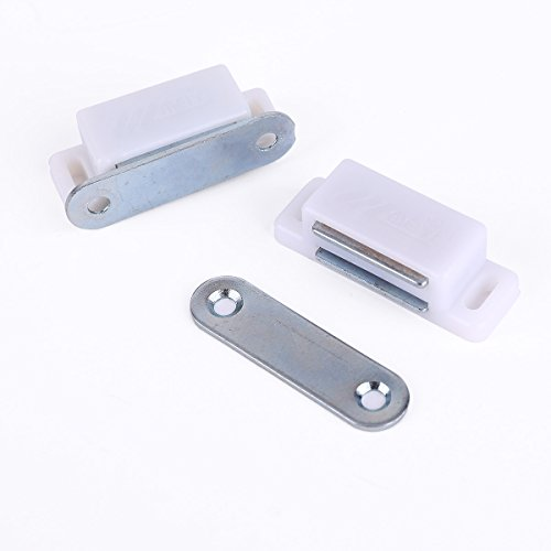 20 heavy duty 6kg magnetic cupboard door catch strong white door cabinet latch durable service