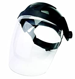 Sellstrom 32010 DP4 Standard Black Crown and Clear Anti-Fog Window Faceshield with Ratchet Headgear