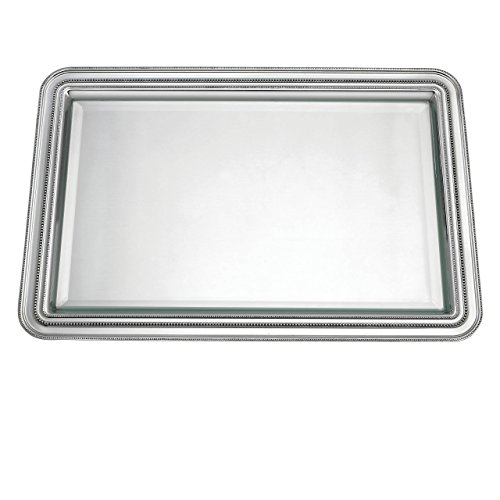 Reed & Barton 7511 Heritage Banded Bead Pewterplate Large Tray by Reed & Barton