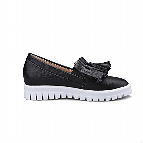 Shoes Fashion Black Show Tassels Flats Show Shine Shine Bungee Womens W8pqwxISx7