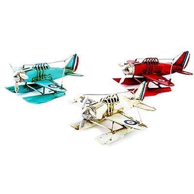 AVENUELAFAYETTE Réplique Avion ancien en métal - 16 cm (Rouge)