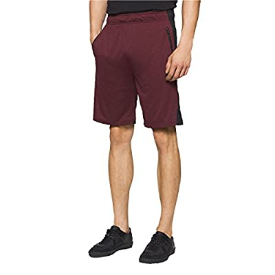 Calvin Klein Drytech Performance Men's Athletic Shorts Black Crimson