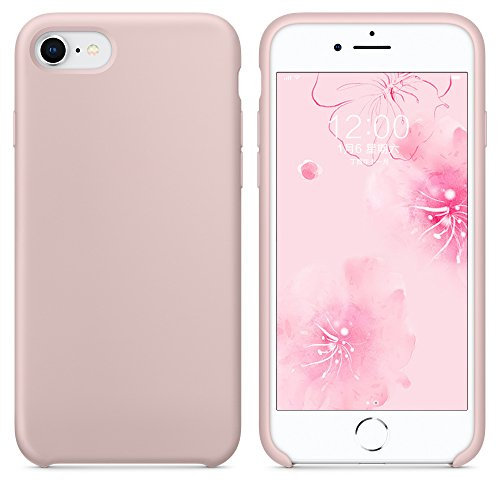 SURPHY Silicone Case for iPhone 8 iPhone 7 Case, Soft Liquid Silicone Slim Rubber Protective Phone Case Cover (with Microfiber Lining) for iPhone 7 iPhone 8 4.7
