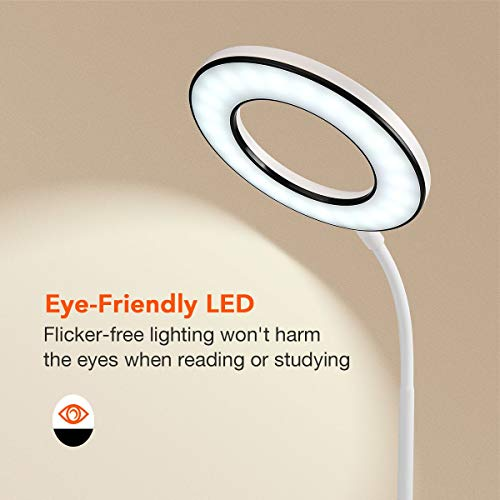 Miady LED Desk Lamp Eye-Caring Table Lamp, 3 Color Modes with 4 Levels of Brightness, Dimmable Office Lamp with Adapter, Touch Control Sensitive, 360° Flexible by Miady (Image #2)