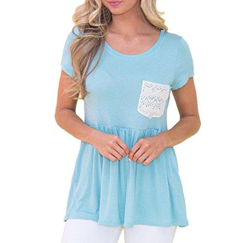 Pleats Costumes - Iusun Casual Women's Blouse Shirt Solid