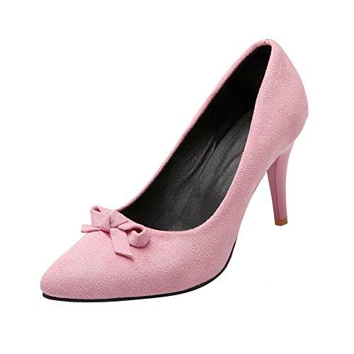 MissSaSa Damen high-heel Pointed Toe Schleife Pumps mit Stiletto Pink