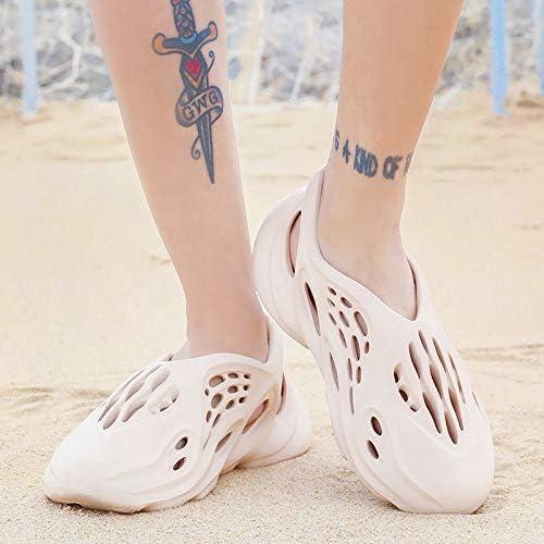 UMOOIN Chaussures Hommes Plus récent Trou d'été Chaussures Sandales Femme Sandales Trous Creux Respirant Tongs extérieur Plage Chaussons Chaussures Romaines,Marron,41