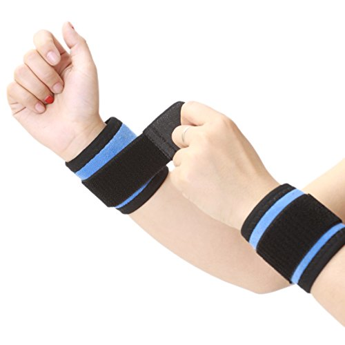Tourmaline Wrist Wrap / Brace / Support Band, Neoprene, Adjustable with Strap - Breathable Material, Comfortable to wear