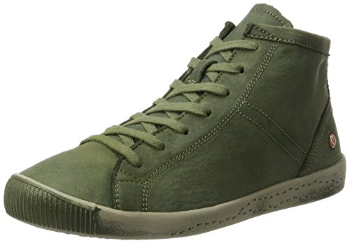 Softinos Isleen Washed Sneaker A Collo Alto Donna Verde forest Green