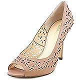 Enzo Angiolini Mega Star 3 Women Peep-Toe Leather Heels